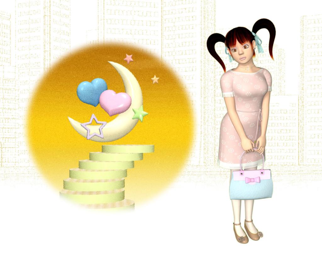 OLの婚活(3Dキャラクター)