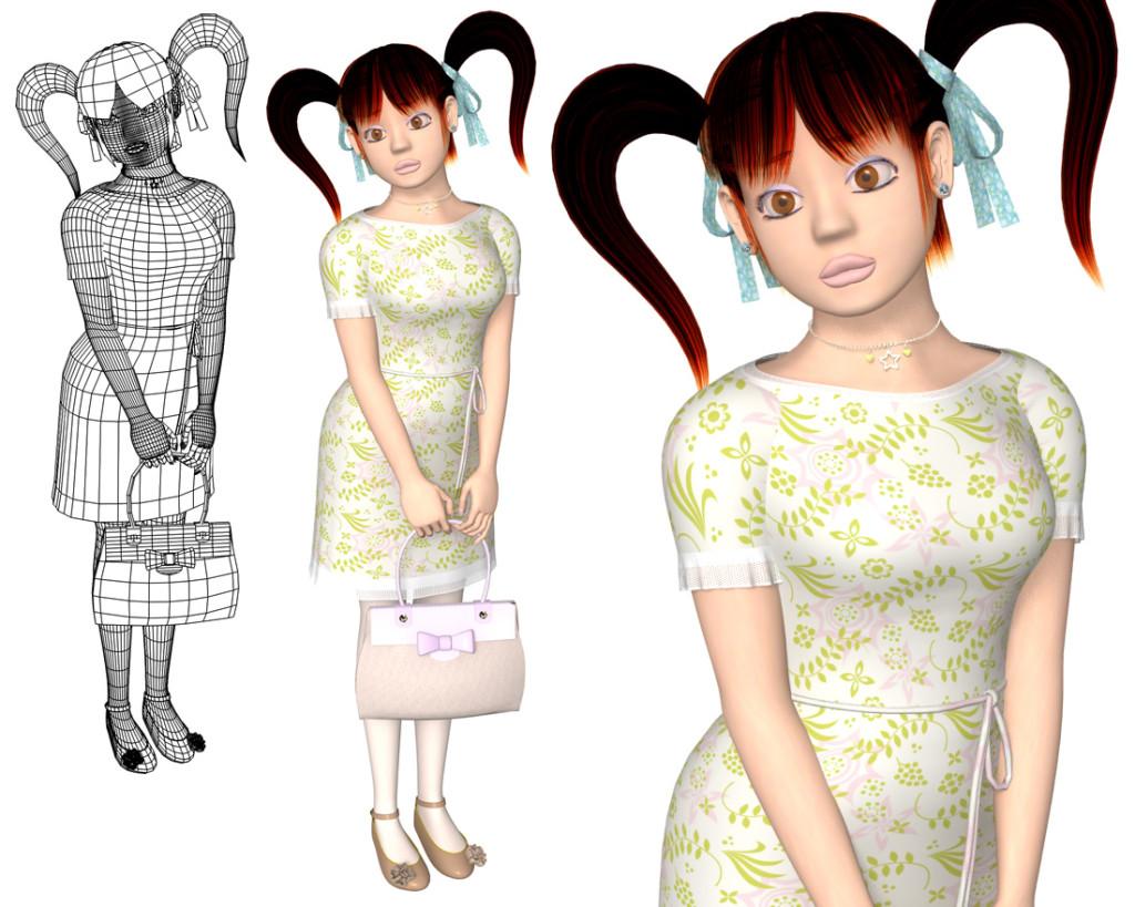 ワンピースOL(3Dキャラクター)