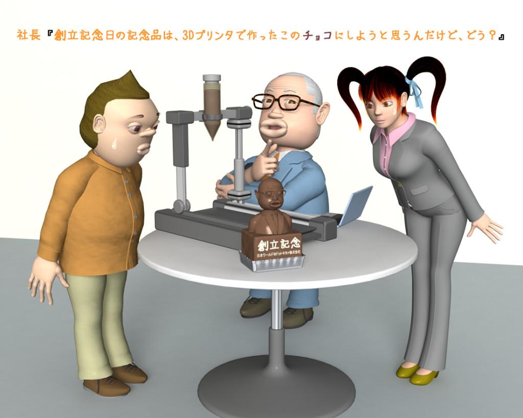 OLと3Dプリンタ(3Dキャラクター)
