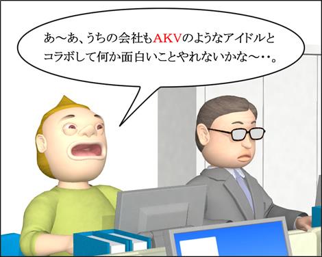 4コマ漫画(3Dキャラ)ベベルなオフィス第10話①