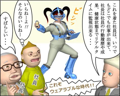 4コマ漫画(3Dキャラ)ウェアラブルな時代②
