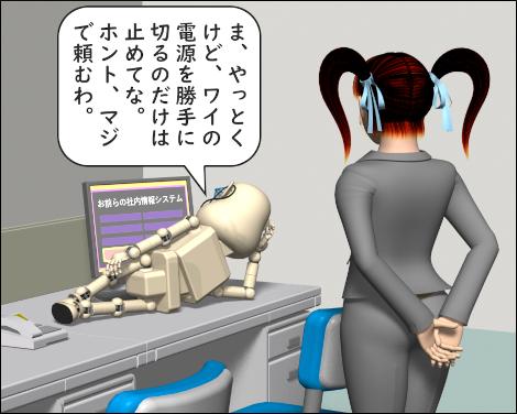 4コマ漫画(3Dキャラ)RPAとAIで業務効率化3