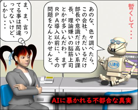 4コマ漫画(3Dキャラ)RPAとAIで業務効率化4