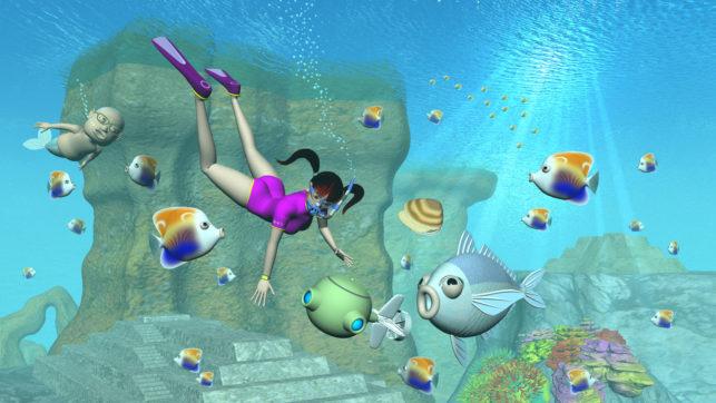 3Dキャラと水中用ドローンと海2