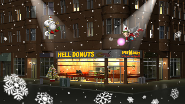 3DCG壁紙 Hell Donutsクリスマス2020