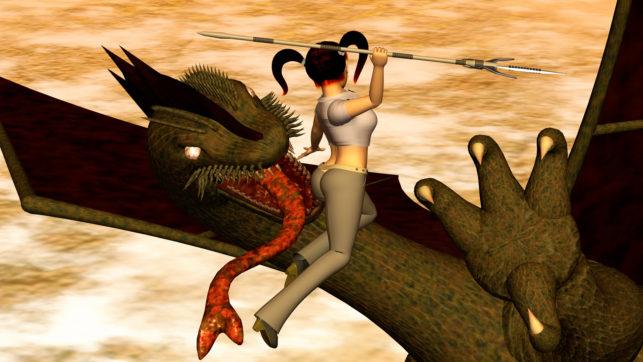 OL戦士とドラゴン2(3Dキャラクター)