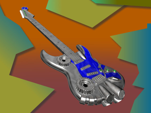 メタルギター(その他の3DCG)1