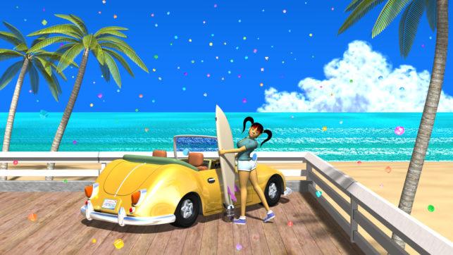 3DCG壁紙 3Dキャラクター夏のシティポップ風1-2
