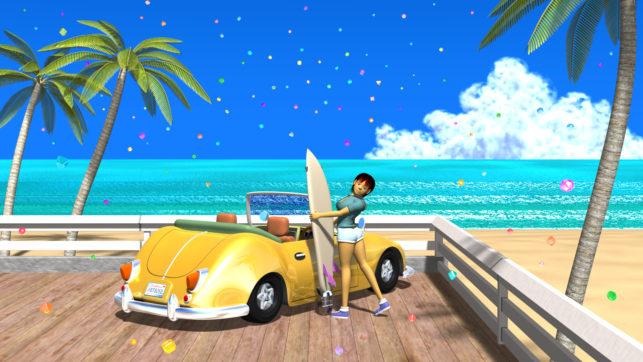 3DCG壁紙 3Dキャラクター夏のシティポップ風1-2s