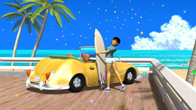 3DCG壁紙 3Dキャラクター夏のシティポップ風2-2s