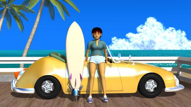 3DCG壁紙 3Dキャラクター夏のシティポップ風3s
