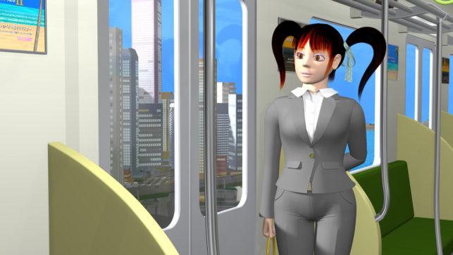 3DCG壁紙 シティ・ポップのイラスト風キャラクター2