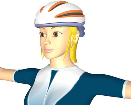 ポリゴン女性(アスリート)(3Dキャラ)