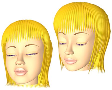 ポリゴン女性(目閉じ顔)(3Dキャラ)