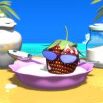 3DCG壁紙 ストロベリー野郎と夏の海