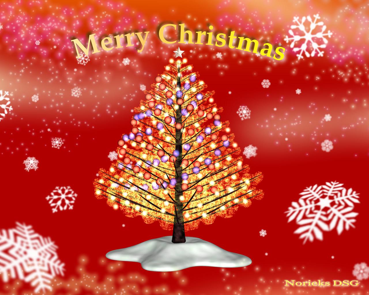 3DCG壁紙 クリスマスツリー