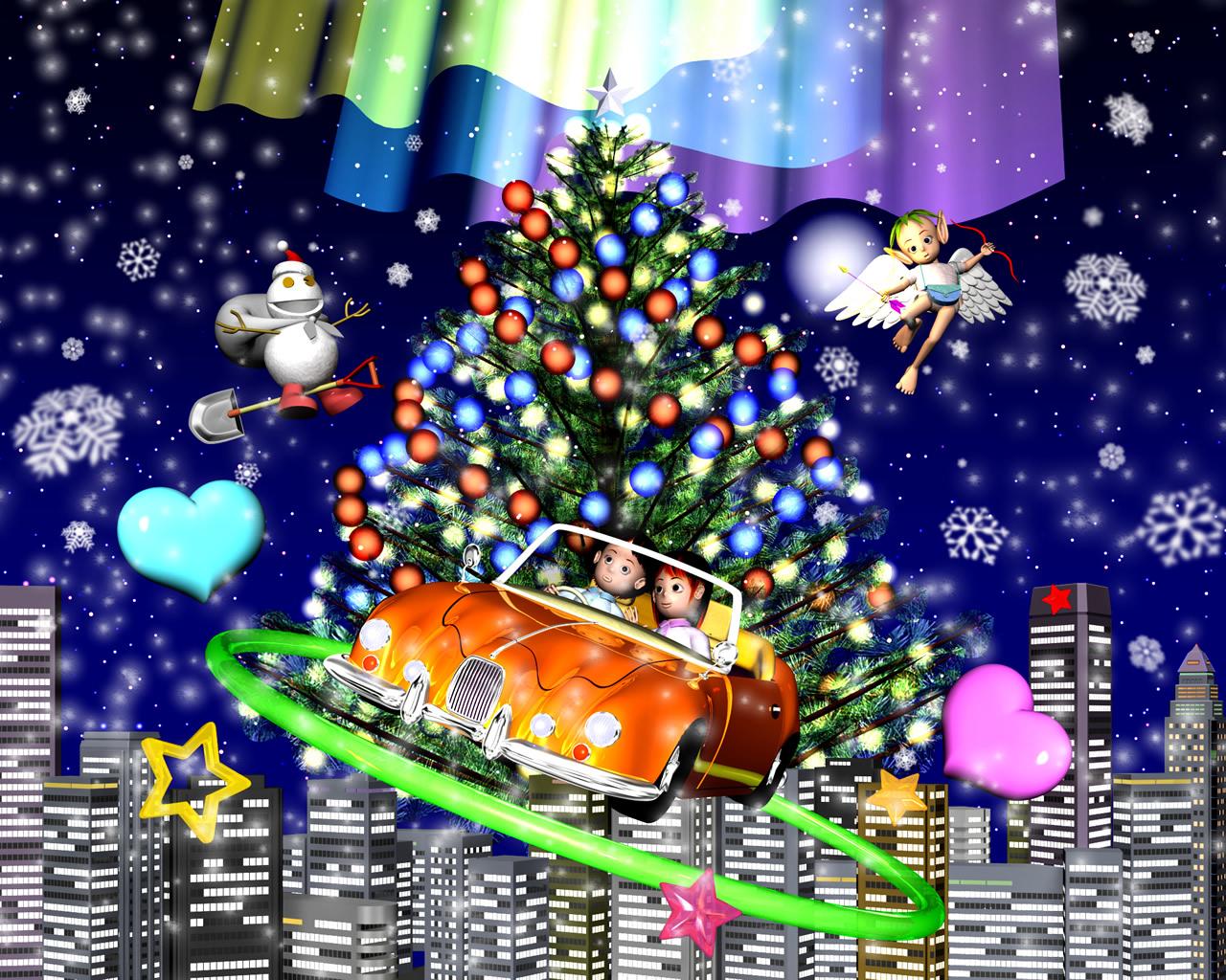 3DCG壁紙 2012クリスマス用壁紙